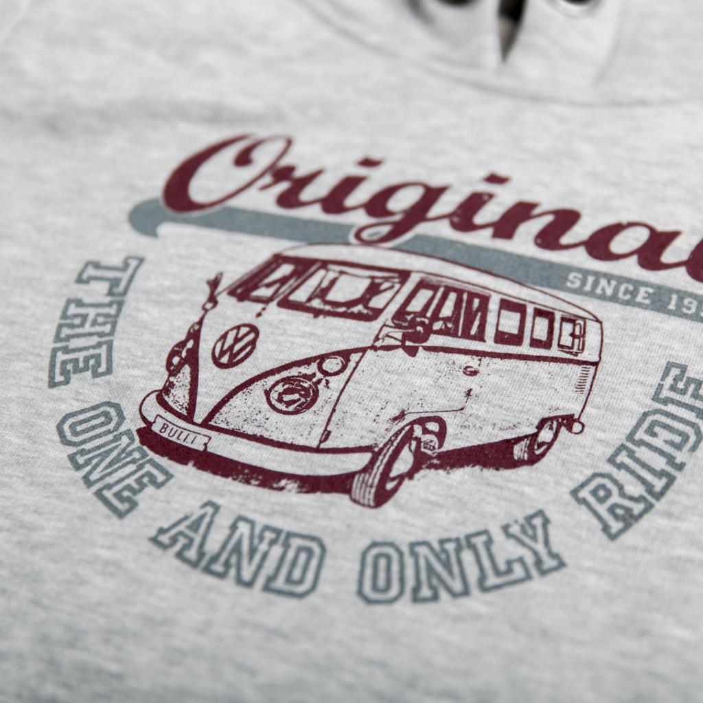 VanOne NEU Damen Hoodie VW Bulli 'Original Ride' hellgrau
